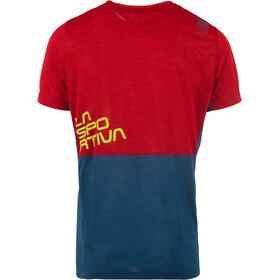 La Sportiva Crunch T-paita Miehet, opal/chili